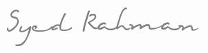 Syed Rahman signature